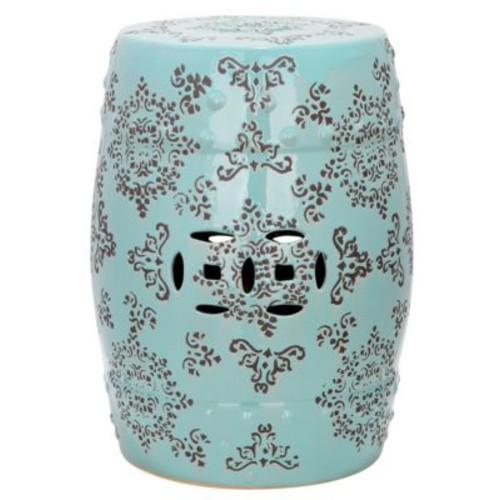 Safavieh - Medallion Glazed Ceramic Stool