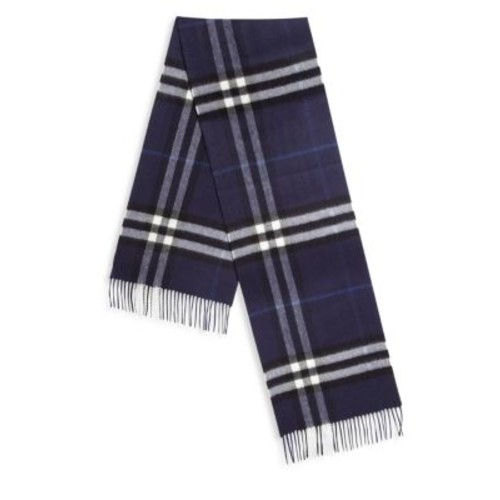 BURBERRY Fringed Trim Cashmere Scarf