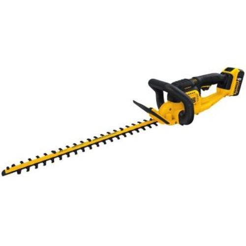DEWALT 22 in. 20-Volt MAX Lithium-Ion Cordless Hedge Trimmer with 5.0Ah Battery and Charger Included