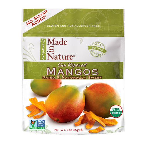 Made In Nature Organic Sweet & Tangy Dried Fruit Mangoes -- 3 oz