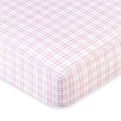 Sweet Jojo Designs Teddy Bear Fitted Crib Sheet in Plaid