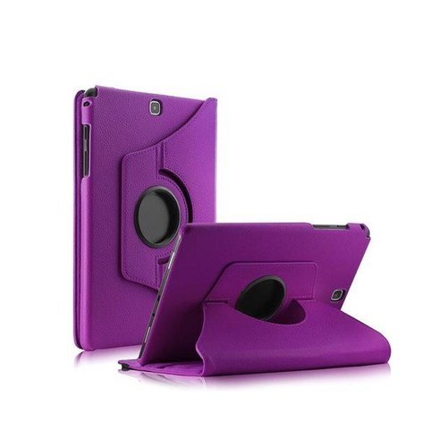 TinkSky PU Leather 360 Rotating Stand Case Cover for Samsung Galaxy Tab A 8-Inch SM-T350 Tablet Obly (Purple)