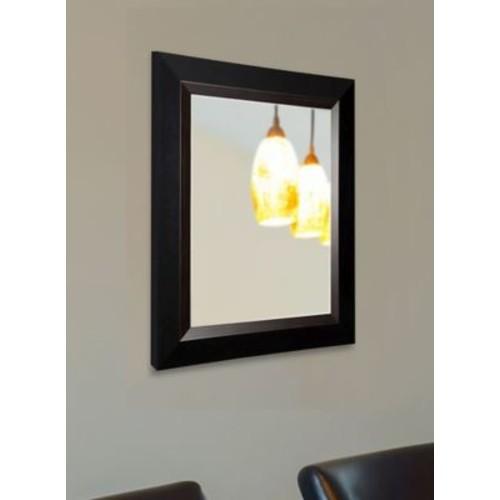 Darby Home Co Brown Grain Black Wall Mirror; 38.75'' H x 32.75'' W x 0.75'' D