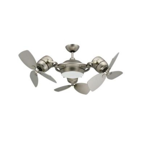 TroposAir TriStar 47 in. Satin Steel Triple Ceiling Fan