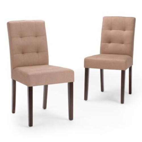 Simpli Home Andover Natural Fabric Dining Chair (Set of 2)