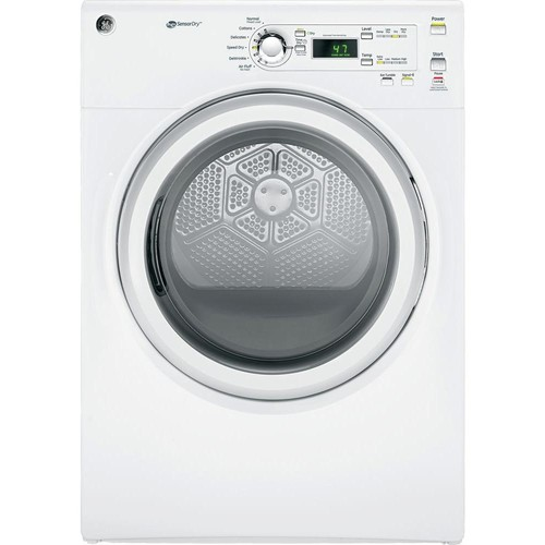 GE 7.0 cu. ft. 240 Volt White Stackable Electric Vented Dryer