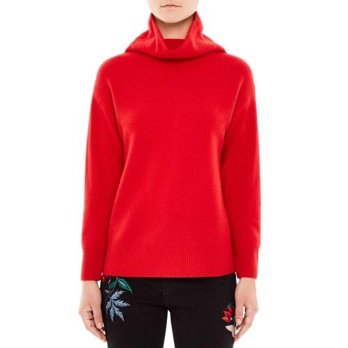 SANDRO Carly Cowl-Neck Merino Wool Sweater