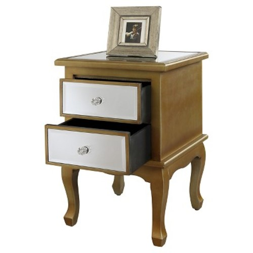 Gold Coast mirrored End Table - Convenience Concepts