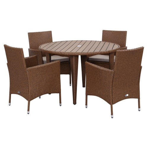 Outdoor Carly 5-Pc Set, Toasted Almond