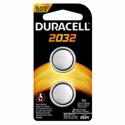 Duracell 66388 Duralock 2032 3V Lithium Batteries 2 Count