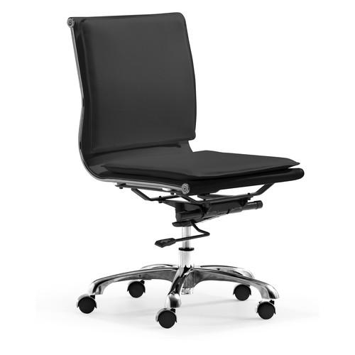 Zuo Modern Lider Plus Armless Office Chair, Black [black]