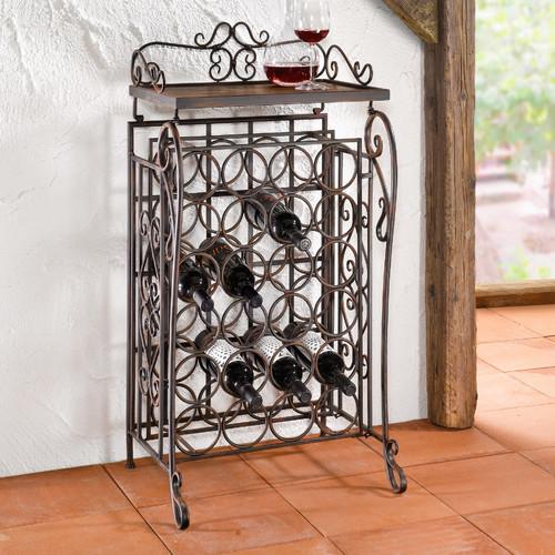 24 Bottles Floor Wine Rack