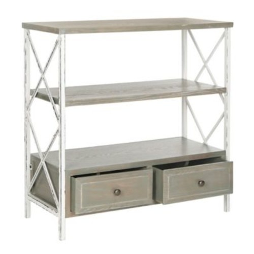 Safavieh Chandra Console Table with Storage Drawers in White/Ash Grey