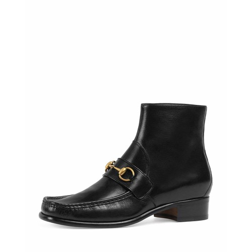 GUCCI Vegas Horsebit Leather Boot, Black