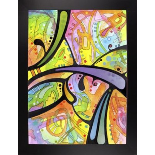 East Urban Home 'Abstract' Graphic Art Print; Black Large Framed