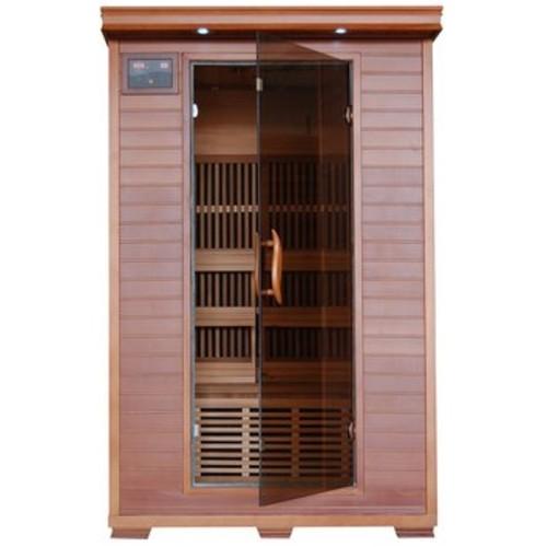 Radiant Saunas 2-Person Cedar Infrared Sauna with 6 Carbon Heaters