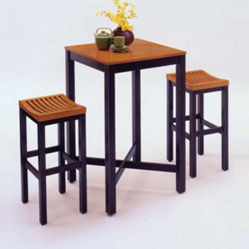 Home Styles Cottage Oak and Black Dining Set