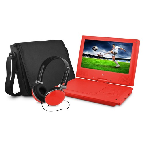 XO Vision EPD909 9-inch Portable DVD Player with Matching Headphones and Bag