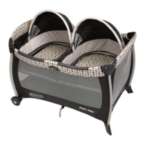 Graco Pack N Play Yard With Twin Bassinets Tan & Grey Vance - 1.0ea