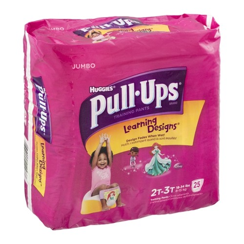 Huggies Pull-Ups Learning Designs Training Pants 2T-3T Girl - 18-34 lbs