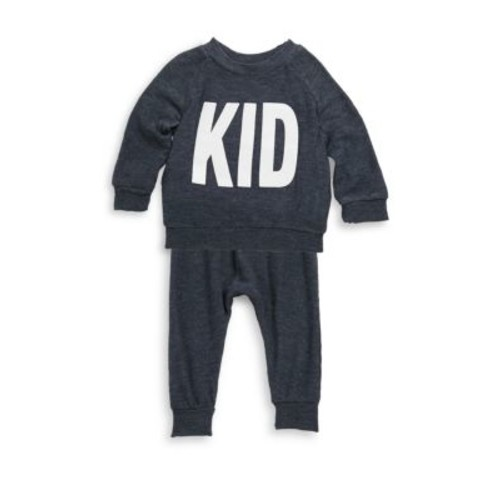 Baby's & Toddler's Two-Piece Kid Print Top & Pants Set