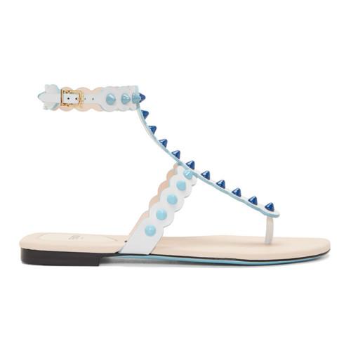 FENDI White Studded Sandals