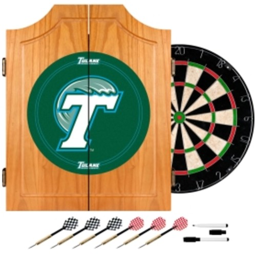 Trademark Games Tulane Green Wave Dart Cabinet