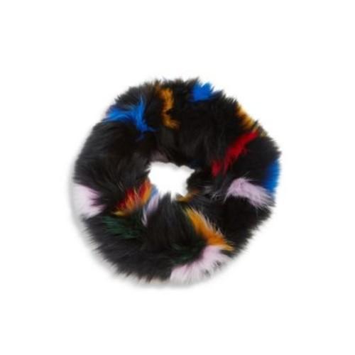 LOEFFLER RANDALL Multicolor Fox Fur Cowl Scarf