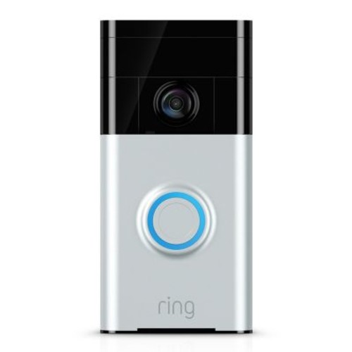 Ring Wireless Video Doorbell Camera - Satin Nickel
