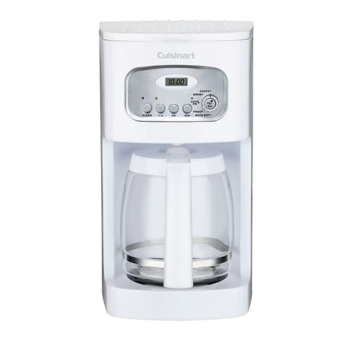 Cuisinart DCC-1100 12-Cup Programmable Coffeemaker, White [White, 12-Cup]