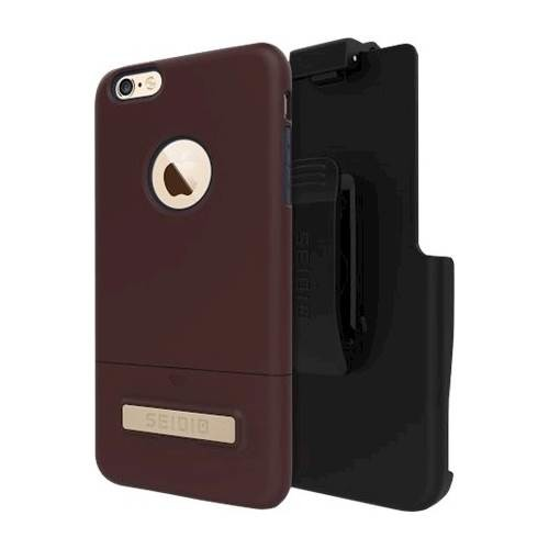 Seidio - SURFACE Combo Case for Apple iPhone 6 Plus and 6s Plus - Brown/Midnight Blue