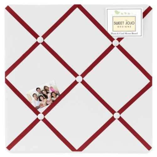 Sweet Jojo Designs Hotel Fabric Memo Board in White/Red