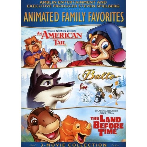Amblin/Spielberg Animated Family Favorites 3-Movie Collection: (An American Tale / Balto / The Land Before TIme)