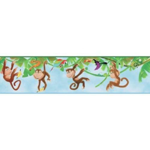 York Wallcoverings ZB3217BD Monkey Border