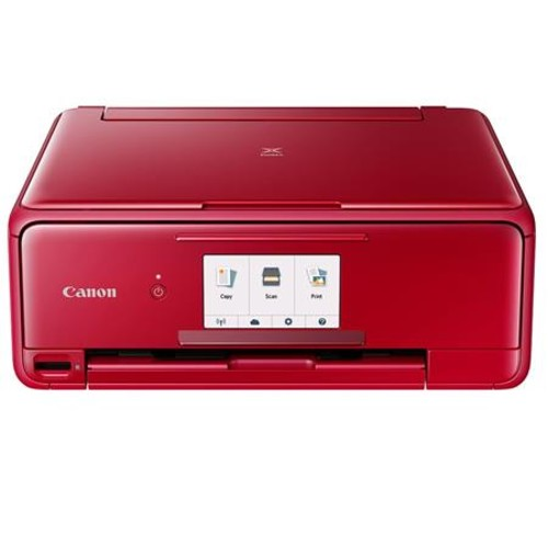 Canon PIXMA TS8120 Wireless Office All-In-One Printer, Red
