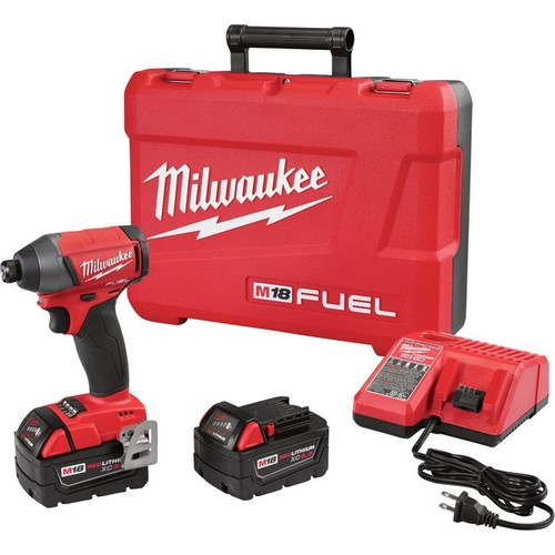 Milwaukee M18 FUEL Cordless Impact Driver Kit  1/4in. Hex, 150 Ft.-Lbs. Torque, 2 Batteries, Model# 2753-22