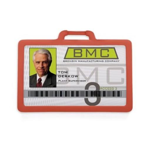 1341225RD31 Horizontal Badge Holders, Red, 10/Pack