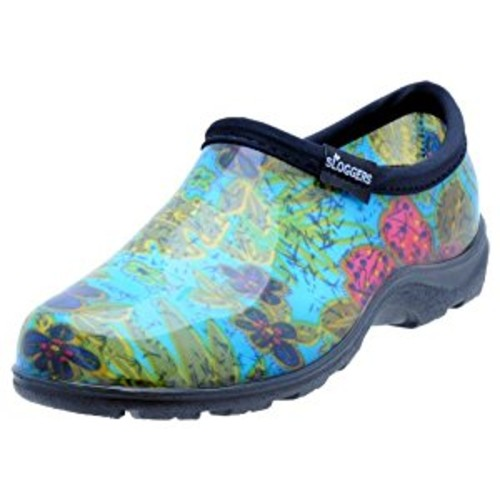 Sloggers Women's Waterproof Rain and Garden Shoe with Comfort Insole, Midsummer Blue, Size 6, Style 5102BL06 [Size 6, Midsummer Blue]