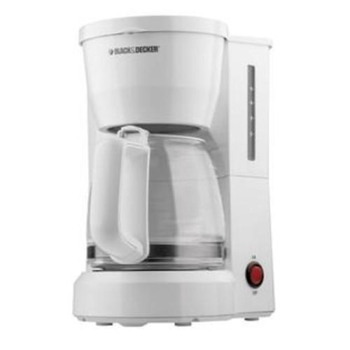BLACK+DECKER White 5-Cup Coffee Maker