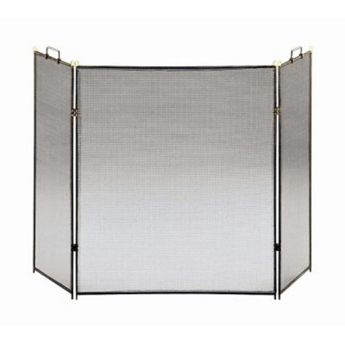 Minuteman Flat Top 3 Panel Steel Fireplace Screen