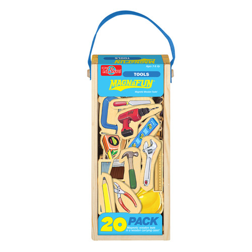T.S. Shure Tools Wooden Magnets 20 Piece MagnaFun Set