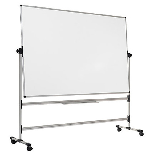MasterVision Earth Easy Clean Revolving Mobile Easel, 47 1/4