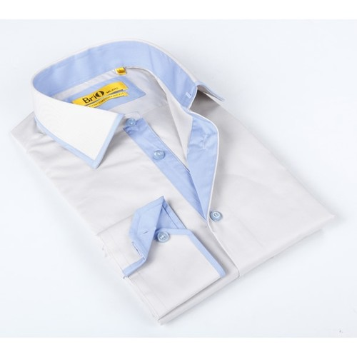 Brio Mens Beige Dress Shirt