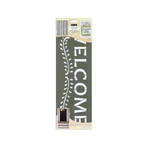 Decoart Americana Decor Stencil 6x18 Welcome