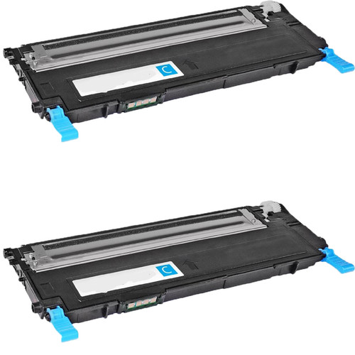 Samsung CLT-C407S Cyan Compatible toner Cartridge For CLP-CLP-320/325 ( Pack of 2 )