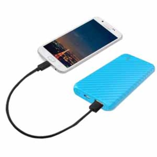 LAX 4000mAh Ultra-Compact External Battery Power Pack for iPhone, Samsung Galaxy and More - Blue