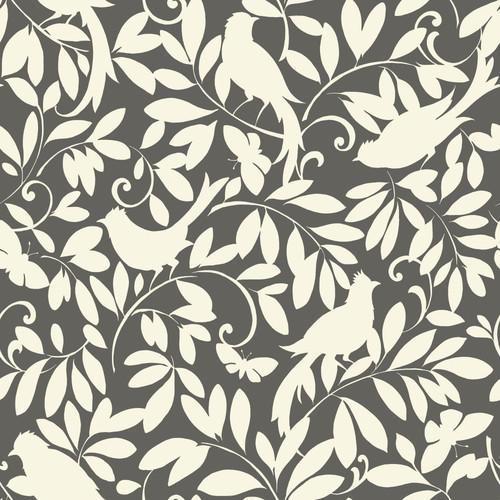 York Wallcoverings Waverly Cottage 33' x 20.5'' Birdsong Botanical Wallpaper Roll