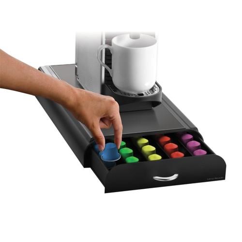 Mind Reader Nespresso Coffee Capsule Drawer, 50-Pod Capacity, Black