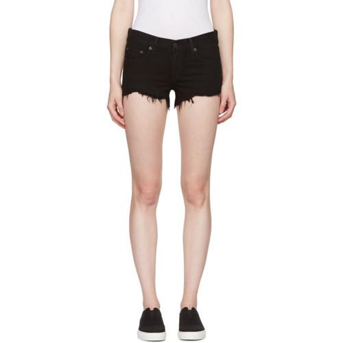 RAG & BONE Black Cut-Off Jean Shorts