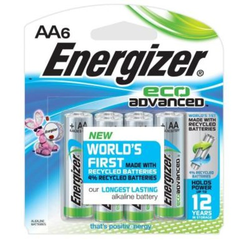 Energizer Eco-Advanced Performance Alkaline AA Battery (6 per Pack)